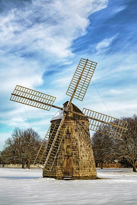 Poster featuring the photograph Corwith Windmill Long Island Ny Cii by Susan Candelario