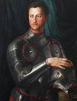 Cosimo I De' Medici In Armour Poster by Bronzino