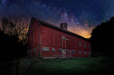 Poster featuring the photograph Cosmic Barn by Bill Wakeley