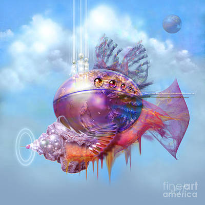 Cosmic Fish Spaceship Poster