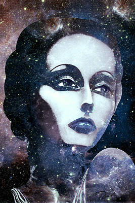 Cosmic Lady Blue Poster