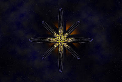 Cosmic Star In A Star Field Poster