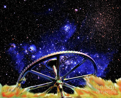 Poster featuring the photograph Cosmic Wheel by Jim and Emily Bush