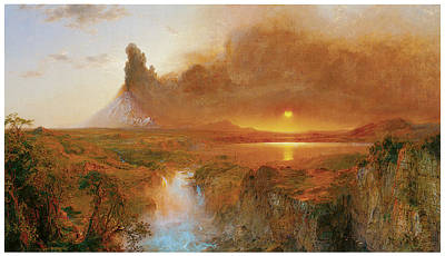 Cotopaxi Poster by Frederick Edwin Church