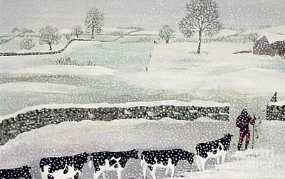 Cotswold - Winter Scene Poster