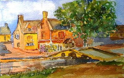 Cotswolds Town Study Poster by Larry Hamilton