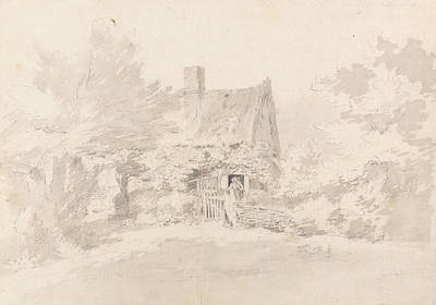 Cottage Among Trees Poster by John Constable