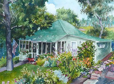 Cottage At Chautauqua Poster