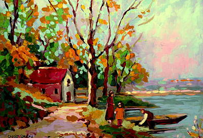 Cottage Country The Eastern Townships A Romantic Summer Landscape Poster
