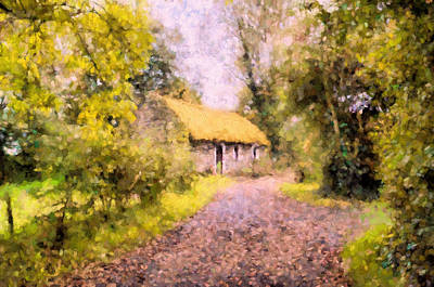 Cottage In The Country Poster by Georgiana Romanovna