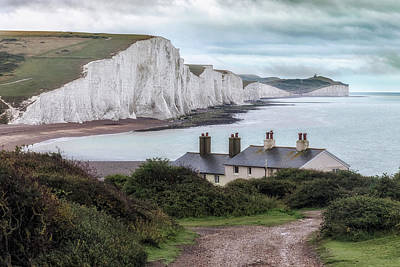 Cottages At Seven Sisters - England Poster