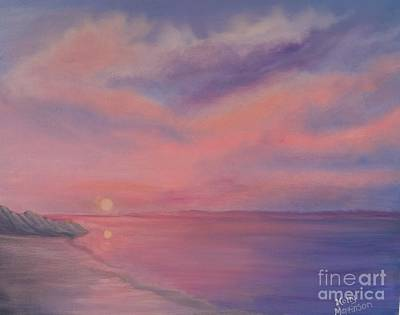 Poster featuring the painting Cotton Candy Sky by Holly Martinson