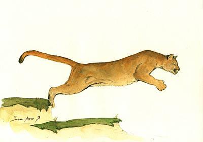 Cougar Poster by Juan Bosco