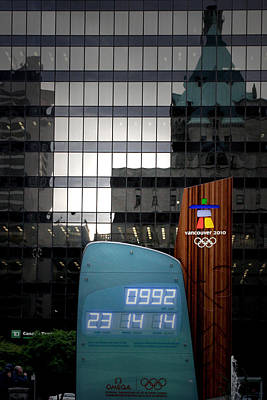 Countdown Clock Olympic Winter Games Vancouver Bc Canada 2010 Poster