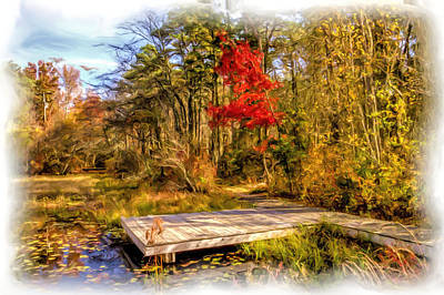 Country Autumn Scenic Poster by Geraldine Scull