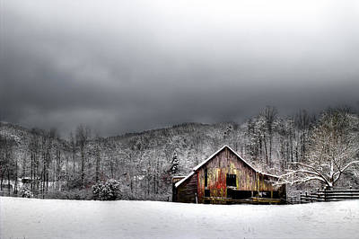 Country Barn In The Smokies Poster by Mike Eingle
