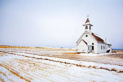 Country Church Poster by Todd Klassy