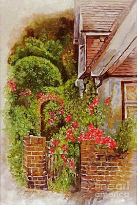 Country Cottage Poster by George Voyajolu
