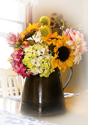 Country Flower Bouquet Poster by Trudy Wilkerson