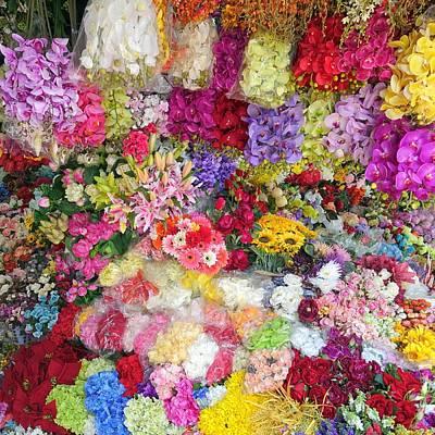 Country Flower Garden Colourful Design Poster