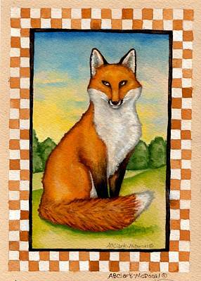 Country Fox Poster by Beth Clark-McDonal