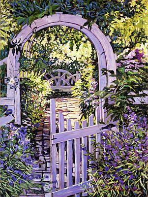 Country Garden Gate Poster by David Lloyd Glover