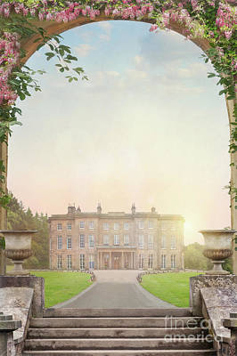 Country Mansion At Sunset Poster by Lee Avison