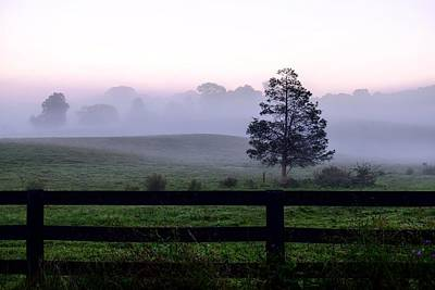 Country Morning Fog Poster