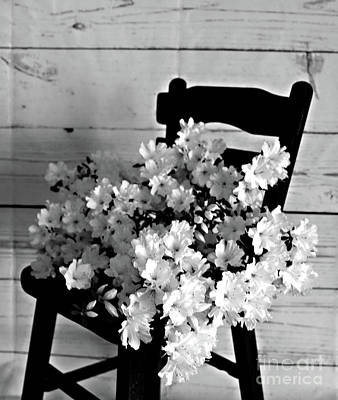 Country Porch In B And W Poster by Sherry Hallemeier