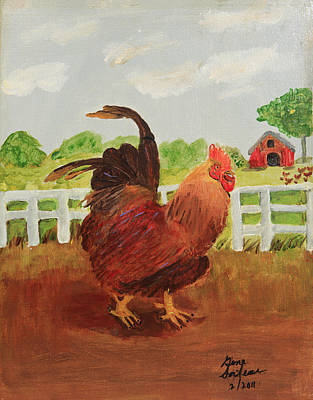 Country Rooster Poster by Swabby Soileau
