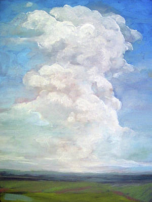 Poster featuring the painting Country Sky - Painting by Linda Apple