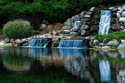 Country Waterfall Poster by S Michael Basly - PhotoGraphics By S Michael