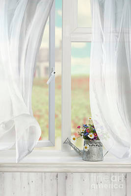 Country Window Poster by Amanda Elwell