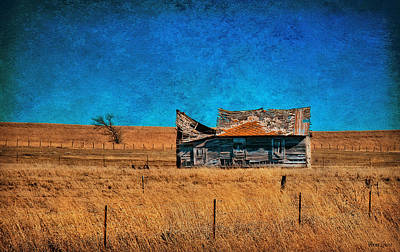 Countryside Abandoned House Poster