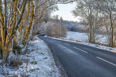 Countryside Road In Central Scotland Poster