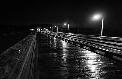 Coupeville Wharf On A Rainy Night Poster