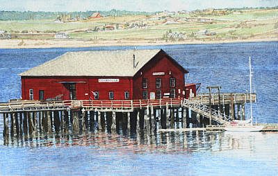 Coupeville Wharf Poster by Perry Woodfin