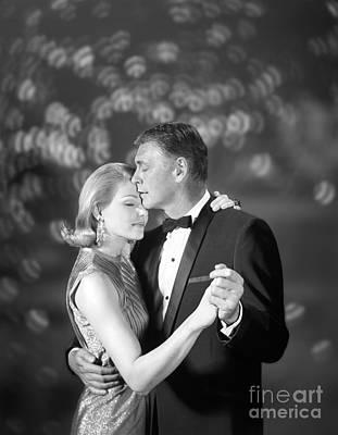 Couple Slow Dancing, C.1960s Poster