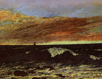 Courbet Gustave La Vague Poster by Gustave Courbet