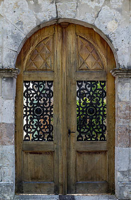 Courtyard Door In Villereal Poster