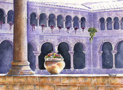 Courtyard In Cuzco Poster by Marsha Elliott