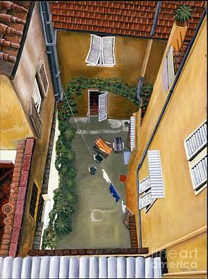 Courtyard In Milan Poster