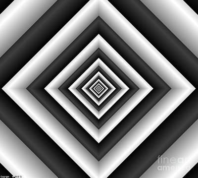 Covariance  6 Modern Geometric Black White Poster