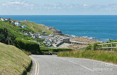 Cove Hill Sennen Cove Poster by Terri Waters