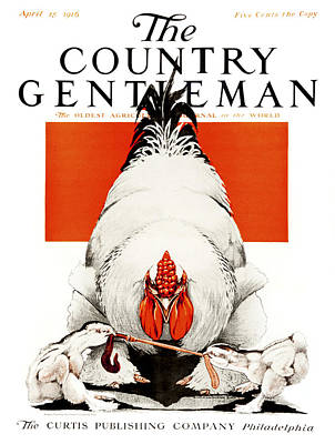 Cover Of Country Gentleman Agricultural Poster by Remsberg Inc