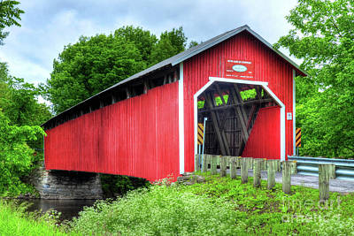 Covered Bridge In Canada Poster