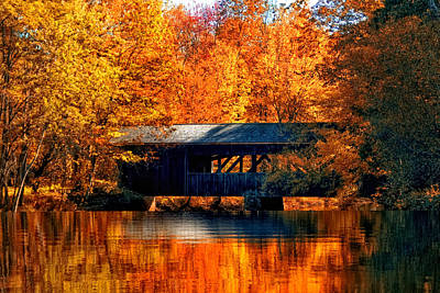 Covered Bridge Poster by Joann Vitali