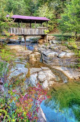 Covered Bridge, Ponca Arkansas, Buffalo National River Area Poster