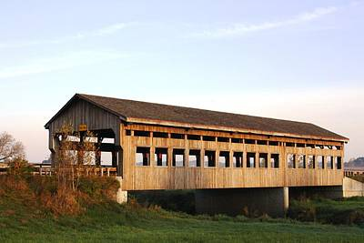 Covered Bridge To Rockwood Poster by Bruce Bley