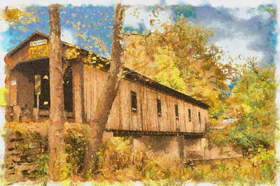 Covered Bridge Usa Poster by Anthony Caruso